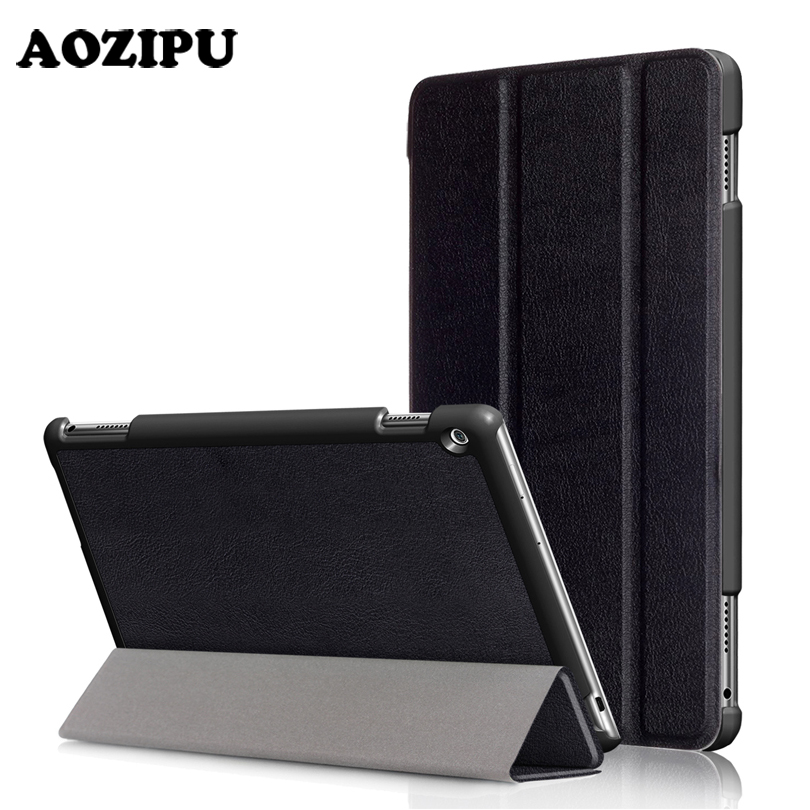 Funda Case for HUAWEI Mediapad M3 Lite 10.0 10.1 2017 New,AOZIPU PU Leather Tablet Case Ultra Slim Smart Protective Stand Cover new 3u ultra short computer case 380mm large panel big power supply ultra short 3u computer case server computer case