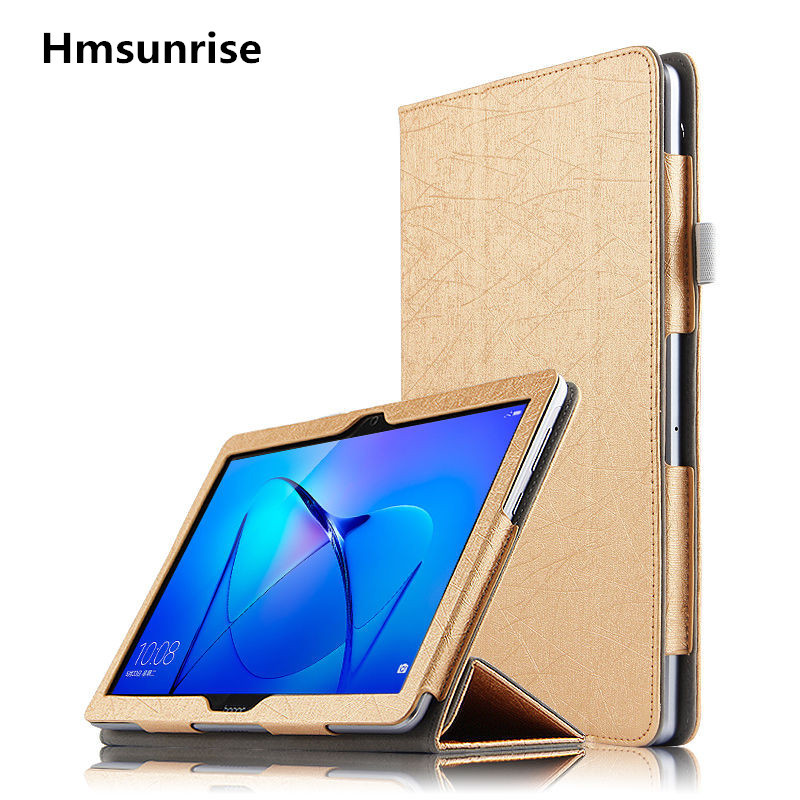 Hmsunrise For Huawei MediaPad T3 10 Case AGS-L09 AGS-L09 PU cover For Huawei T3 10 9.6 inch tablet smart protective cover skin