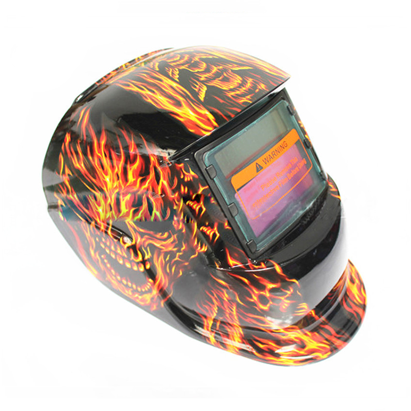 купить Skull Solar Auto Darkening MIG MMA Electric Welding Mask/Helmet/welder Cap/Welding Lens for Welding Machine по цене 1256.59 рублей