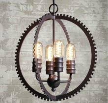 Luces de Techo Industrial Gear LOFT Lámparas Retro Industrial Edison Bombilla de Iluminación el Diseñador Lámparas Luminaria de Suspensión Titular