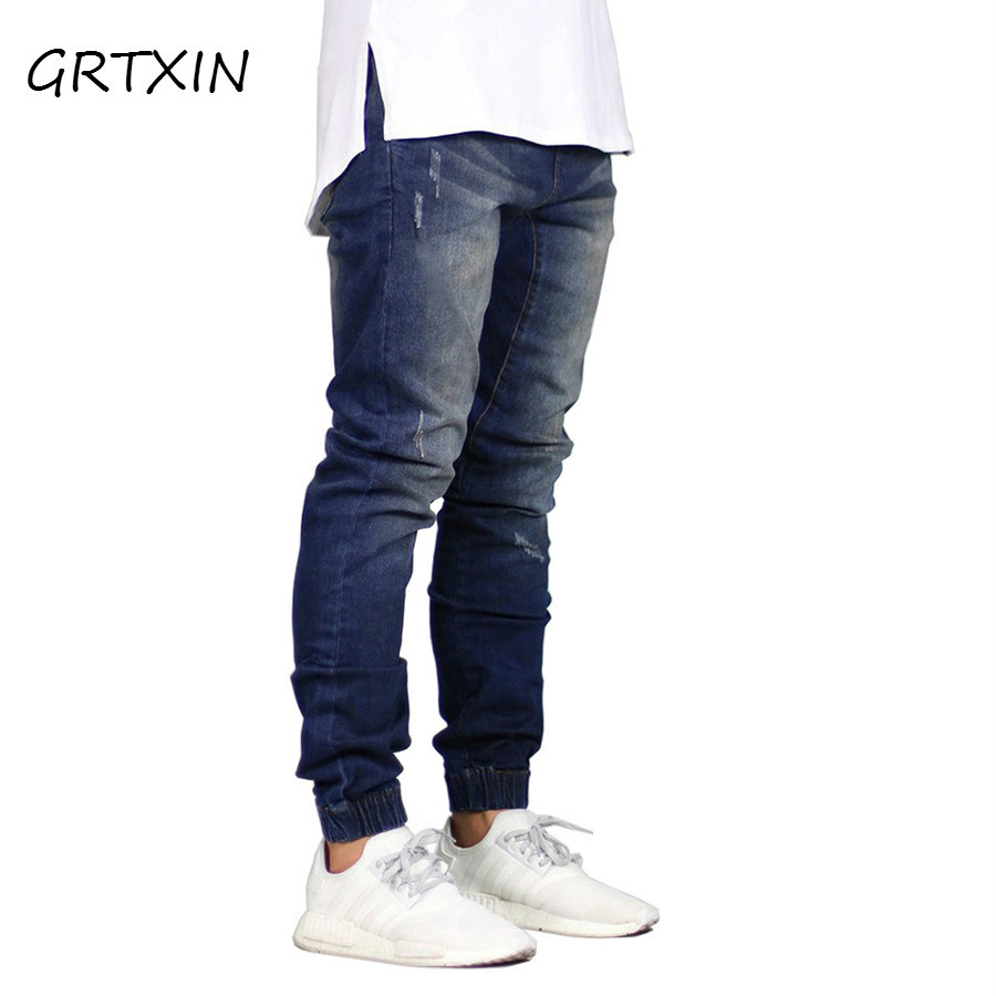 2018 Fashion Men Jogger Jeans Stretch Hip Hop Joggers Denim Jeans For Men