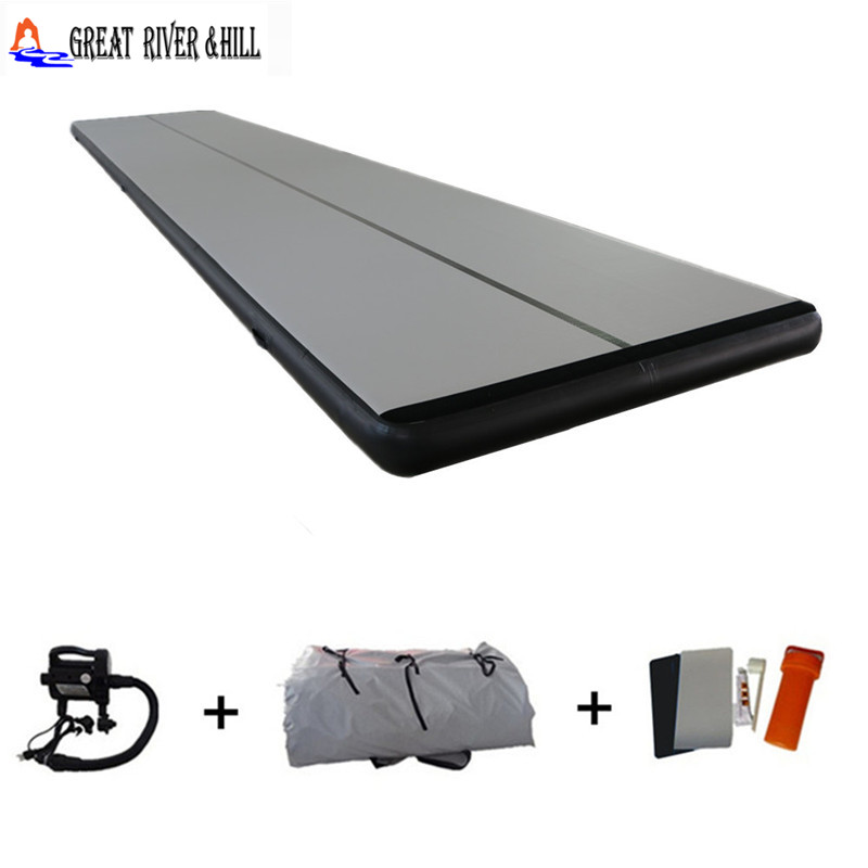best quality inflatable air training track jumping mat for home gym air tumble track for kids with free pump for sale 9m x 1.8m