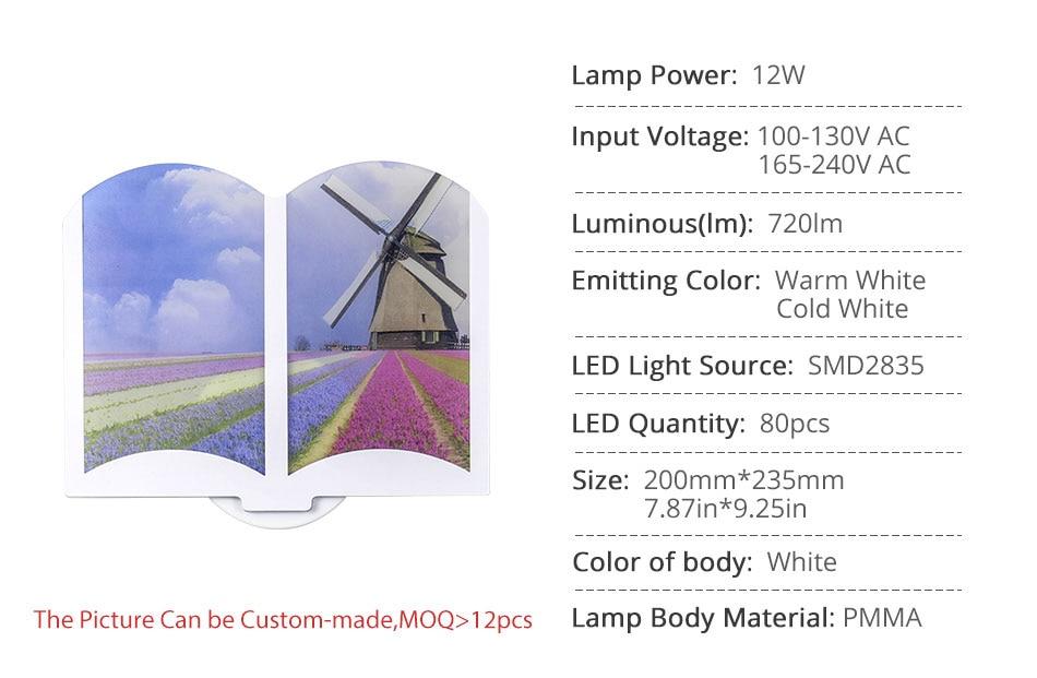 165-240V AC LED Wall Light 12W 80PCS Interior Night Light Bedroom Lighting Modern Wall Fixtures Hotel Kitchen Living Room Lamp (6)