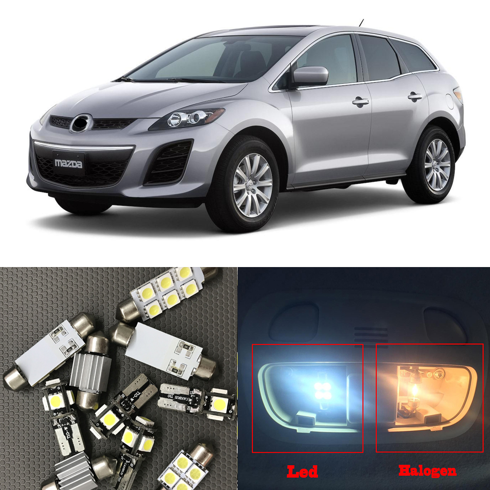 12x Car LED Light Bulbs Kit For 2007 2008 2009 2010 2011