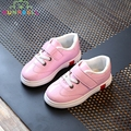 2017 Spring Children Fashion Sneakers Girls Sports Breathable Sneakers Kids White Casual Flats Toddler Kids Rubber Shoes C291