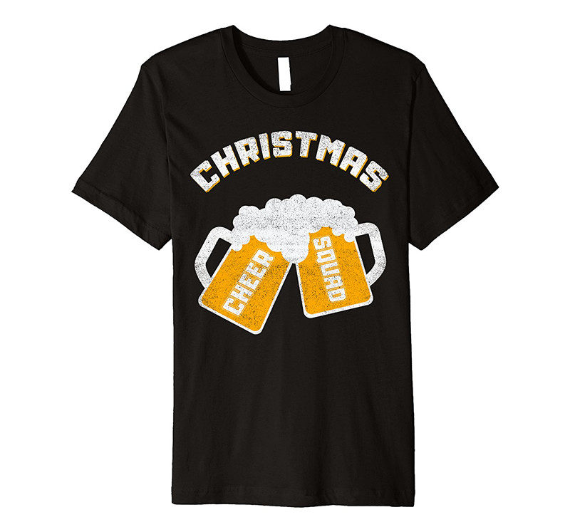 Shirt Design Website Vintage Christmas Cheer Squad O-neck Men Short Cotton Shirts In Many Styles T-shirts