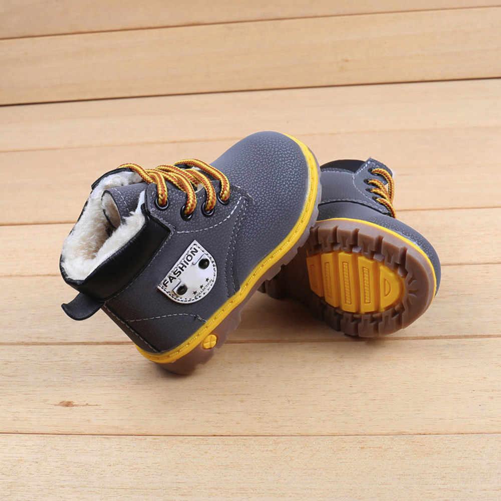 ילדי מגפי נעליים פעוטה תינוק בנות בני חורף שלג מגפי נעלי ילדים חם נעל שלג מגפי ילדי ילדי תינוק נעליים