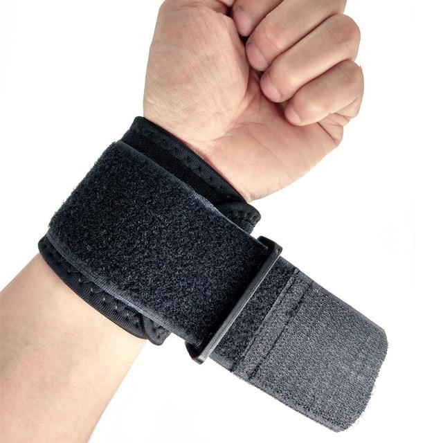 1 шт. регулируемое запястье Поддержка Brace бренд браслет Для мужчин Для женщин тренажерный зал бороться профессиональный спорт защита запястья