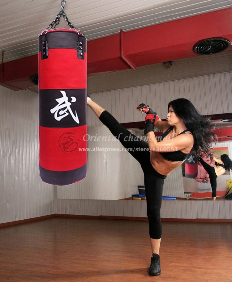 все цены на New 70cm Training Fitness MMA Boxing Bag Hook Hanging Kick MMA Fight Bag Sand Punch Punching Bag Sandbag (Empty) Free Shipping