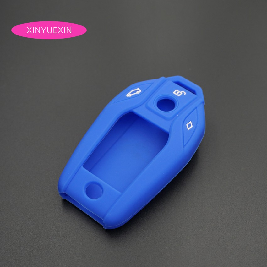 Xinyuexin Silicone Rubber Car Key Case Fob Cover For Bmw Oem I12 I8
