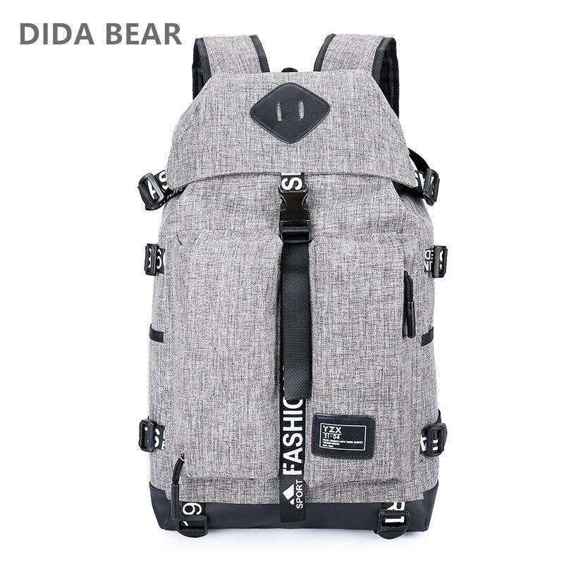 DIDA BEAR 2018 Men Backpacks For Travel Laptop Large Capacity Rucksack Waterproof Nylon Boys Girls School Backpack Unisex Women