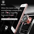 Baseus Ароматерапия Автомобилей Магнитный Держатель Мобильного Телефона Пустой духи Металла Алюминиевая Магнит 360 Градусов Air Vent Держатель Стенд
