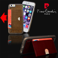 Luxury Real Genuine Leather Case For IPhone 6 4 7 Ultra Thin Stand Design Flip Style