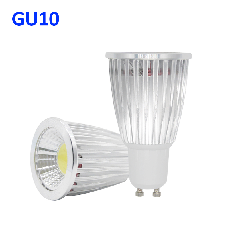 Gu10 cob lampada led spotlight 220v bombillas led lamp - Bombilla led gu10 ...