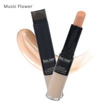 Music Flower Brand Face Foundation Base Makeup 3 Color Liquid Foundation Cream Stick Concealer Waterproof 3 In 1 Cover Cream