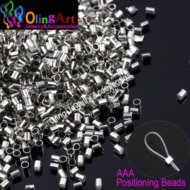OlingArt tube 2mm Silver Plated Wire rope DIY earrings Bracelet ...