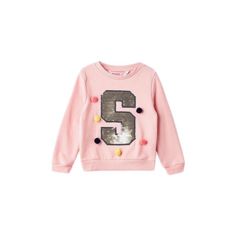 Hoodies & Sweatshirts MODIS M182K00127 for girls kids clothes children clothes TmallFS hoodies