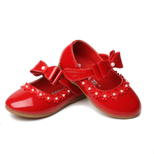 Kids Sweet Floral Flats Princess Butterfly-Knot Elegant Single Shoes Girls  Wedding Mary Jane School Non Slip Shoes AA60257 d28af3a61611