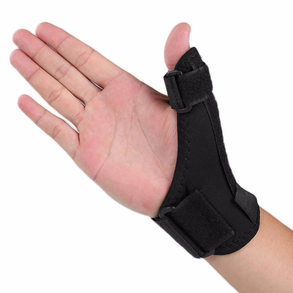 MaxKare Black Sport Wrist Thumbs Hand Support Brace Training Wrist Protector Splint Stabiliser Sprain Pain Relief Wristband