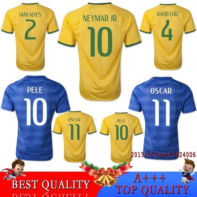 shirts home away neymar jr jersey 2015 2016 americas cup 5 stars yellow blue football