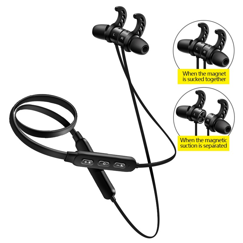 Sports Bluetooth wireless earphones headset magnetic suction Bluetooth earbuds two neck stereo BT earphone постельное белье cleo постельное белье night 2 сп евро