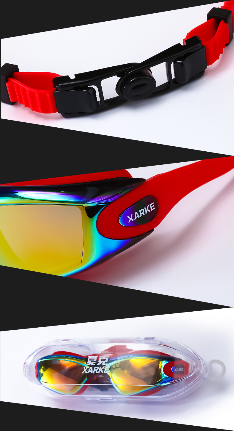 XARKE Optical Diopter Anti Fog Silicone Prescription Swimming Goggles For Pool Myopia 6