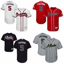 26a86683ce2 MLB Men s Atlanta Braves Freddie Freeman White Home Authentic Collection  Flex Base Player Jersey(China
