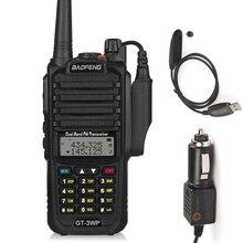 все цены на Baofeng GT-3WP IP67 Waterproof Dual-Band 2M/70cm Ham Two-way Radio Walkie Talkie + Programming Cable&CD+ Car Charge Cable онлайн