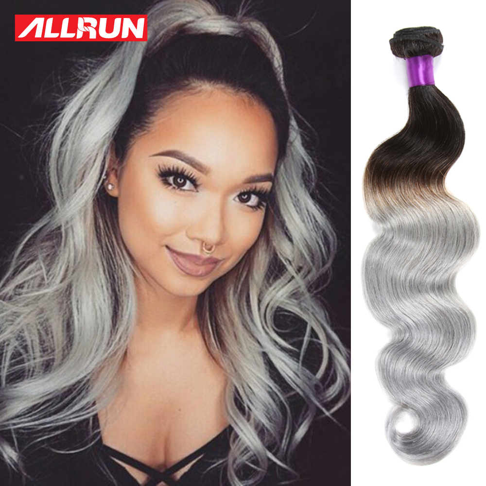 Ombre brazilian body wave grey hair weave 5 bundles brazilian ombre brazilian body wave grey hair weave 5 bundles brazilian virgin hair extensions body wave soft brazilian hair weave bundles in hair weaves from hair pmusecretfo Images