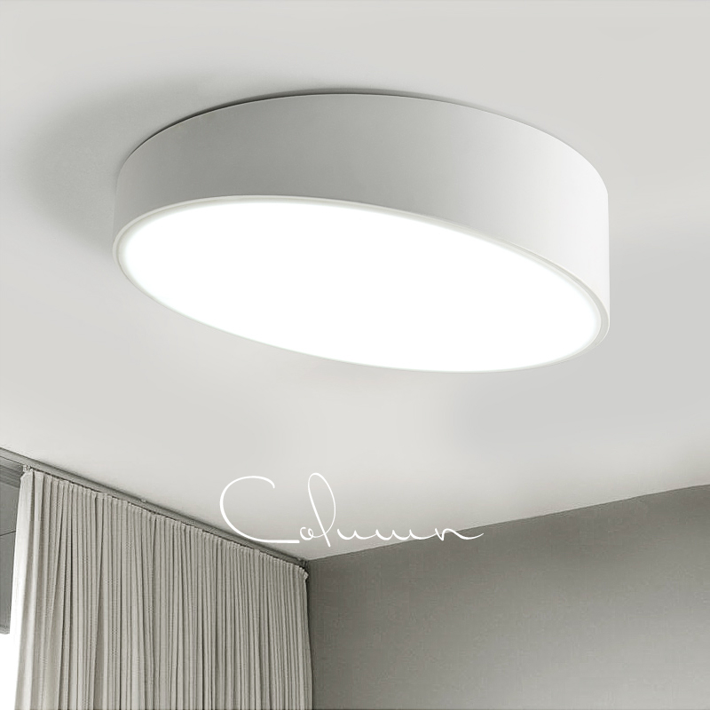 Modern LED Ceiling Light Round White/Black Ceiling Mounted
