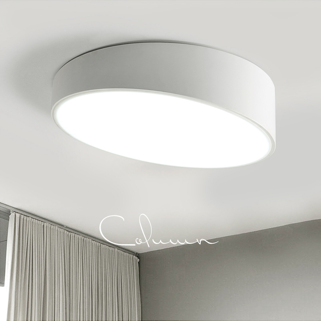 Modern Led Ceiling Light Round White Black Mounted Fixtures Dining Room Balcony Bedroom