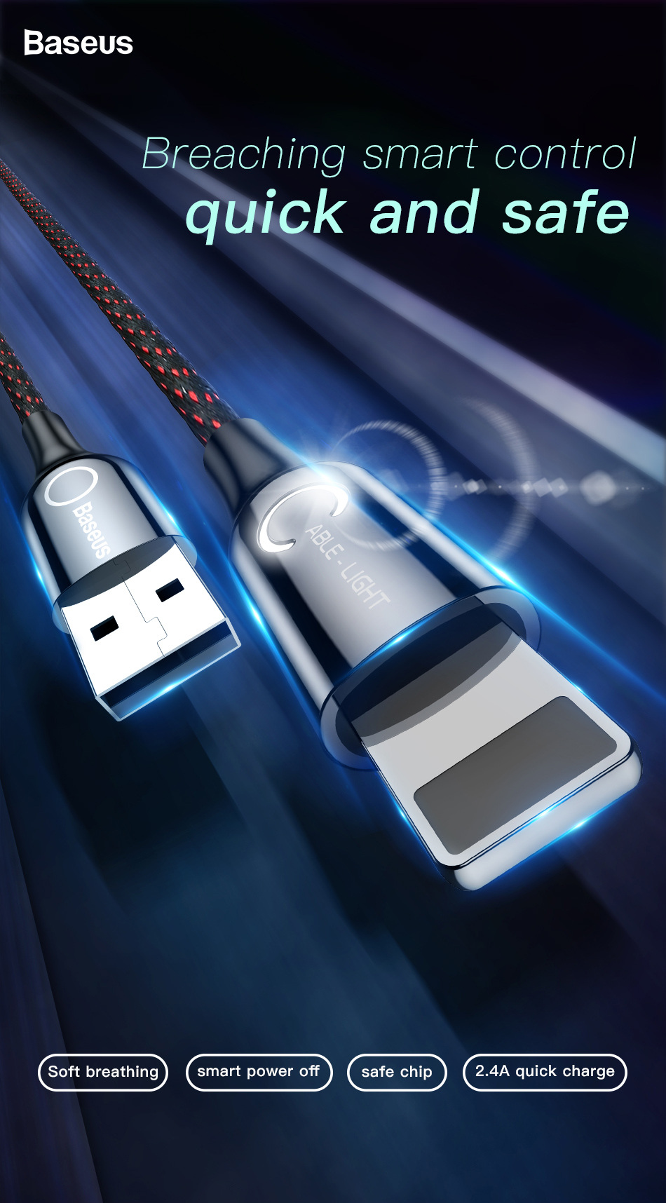 Iphone Cable Intelligent Power Off [CALCD-01] by Baseus Pakistan brandtech.pk