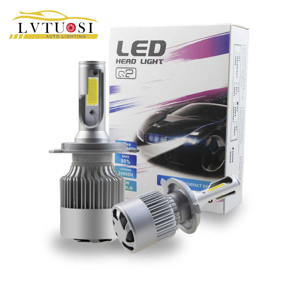 LVTUSI  H7 H4 LED Headlight bulb  Auto Headlamps  H1 H11 H3 9005 9006 880 881Car light Source CSP 12v 24v 6000k CJ