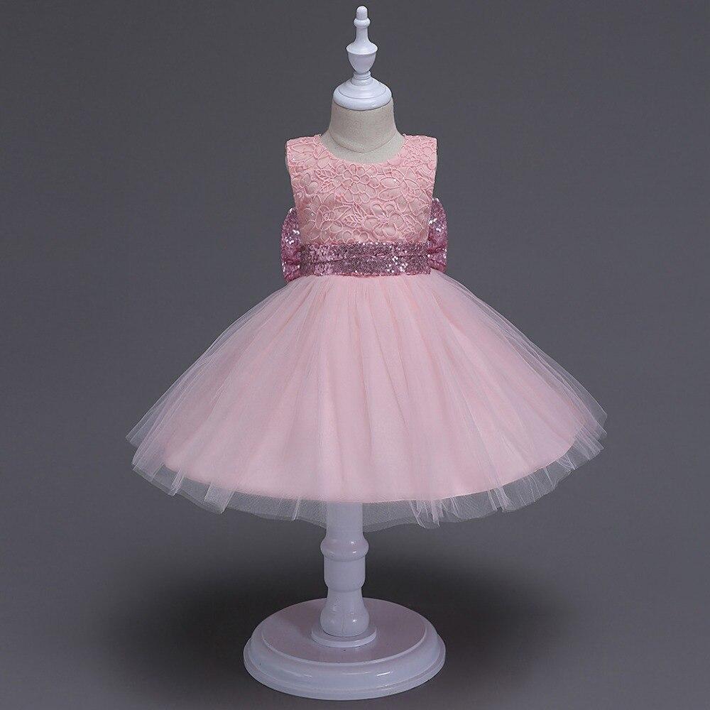 6c8de0cb4 2017 New Born baby girl glitter bow tutu dress sequined Belt infant ...