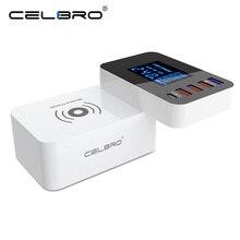 10 ワットチー高速ワイヤレス充電器 lg V40 V35 ThinQ V30 G6 プラス USB マルチ充電器 qc 3.0 LED ディスプレイワイヤレス充電アダプタ 2A