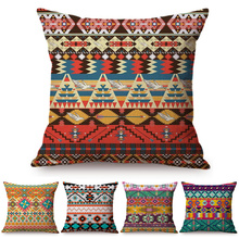 Funda de cojín de suelo con patrón islámico, funda de almohada con ondas de rayas étnicas turcas, funda de almohada con decoración Bohemia para sofá