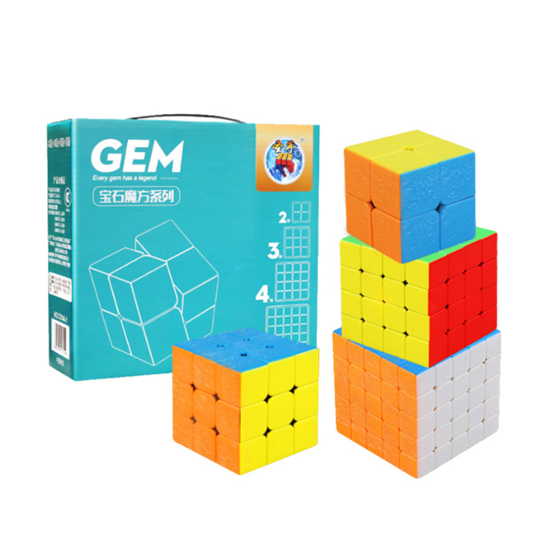4 PCS Set 3x3x3 Magic Speed Cube Christmas Educational Learning Toys For Children Gift 2x2x2 4x4x4