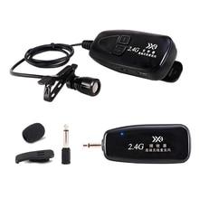 새로운 2.4G 무선 타이 클립 마이크 Lavalier Lapel MIC 기타 픽업 스피커 휴대용 오디오 및 비디오