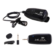 New 2.4G Wireless Tie Clip Microphone Lavalier Lapel MIC Guitar Pickup for Speaker Portable Audio & Video