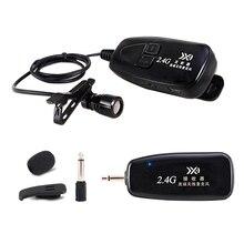 Yeni 2.4G kablosuz kravat klip mikrofon yaka mikrofonu gitar Pickup taşınabilir hoparlör için ses ve Video