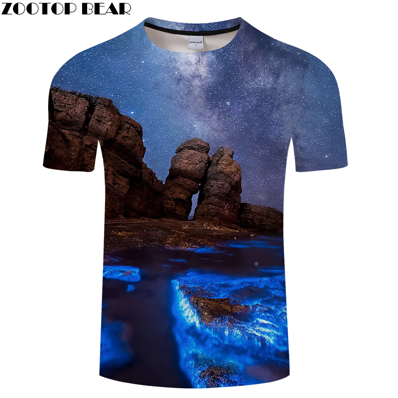 Beautiful Natural Scenery 3D Print t shirt for Men and Women Casual short Sleeve Tees Plus Size Drop Ship ZOOTOP BEAR