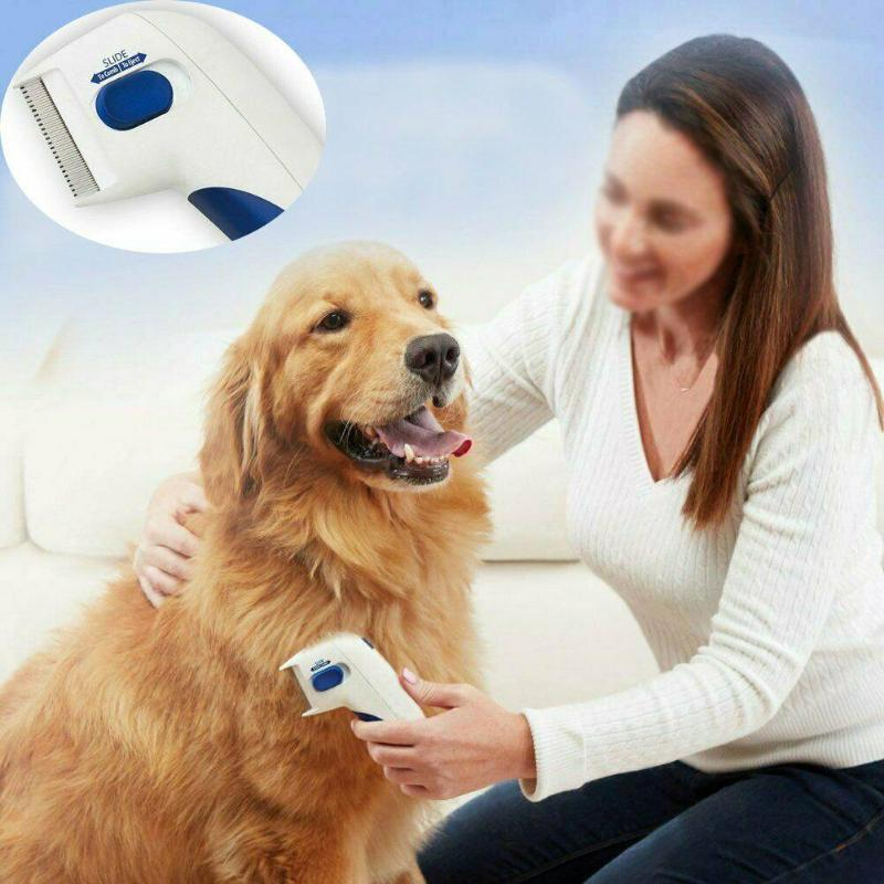 Pet Flea Lice Cleaner Comb Electric Dog Flea Cleaning Brush Anti Flea Dog Comb Electronic Lice Comb for Cats Dogs Pet Supplies 2