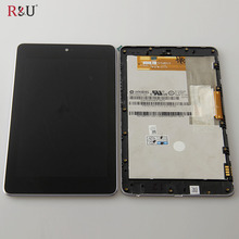 R&U test good lcd screen display touch screen digitizer assembly with frame for ASUS Google Nexus 7 1st gen 2012 ME370T me370