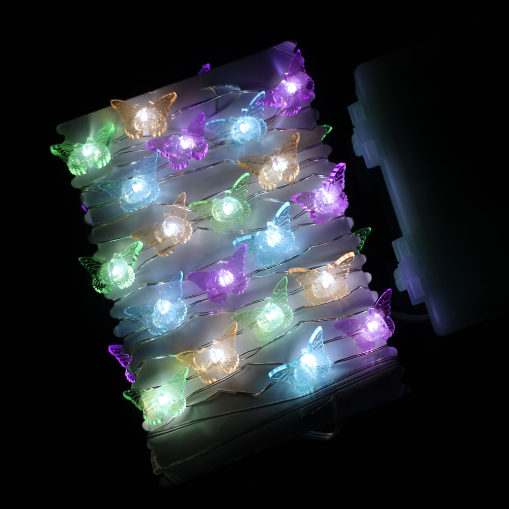 Image 4 - 3m 40 LEDs Waterproof Battery Operated Modelling Lights Copper Wire LED String Lights Christmas Fairy Lights With Remote&Timer-in LED String from Lights & Lighting on AliExpress