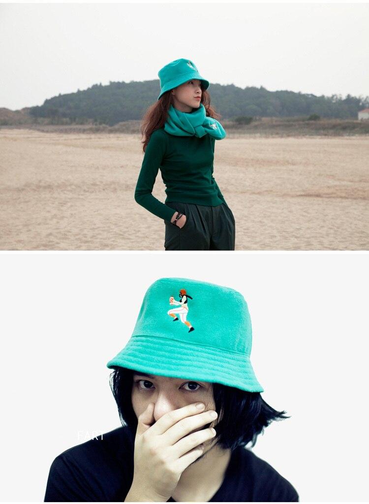 YIZISToRE invierno lana tejido bufanda y sombrero de pescador Set ...