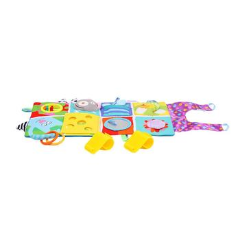 Multi-Touch Cartoon Baby Rattles Music Pacifying Bed Pendant Sounder Around Bedding Book Toys Bell Bed Bumper For Kids Toys 1