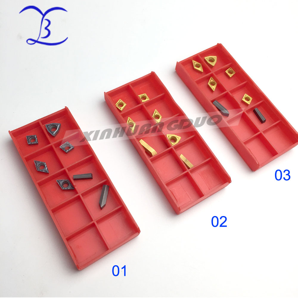 Insert 7pcs/set For 8mm 10mm Titanium Indexable Carbide Cuter Tool Set, 7pcs/kit Wholesale For Stainless Steel Copper Aluminum