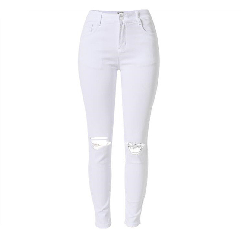 White Skinny Jeans Women Photo Album - Reikian