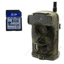 Envío gratis! bellota del Ltl 6310WMG 100 Degree lente MMS GPRS juego rastro caza leva de la cámara + Free 8 GB tarjeta SD