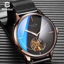 Bestdon автоматические часы Menes синий механический каркас часов модные роскошные швейцарские брендовые наручные часы подарок для мужчин 2019